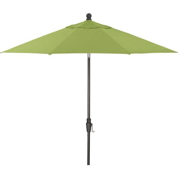 9' Round Sunbrella ® Kiwi Umbrella with Black Frame