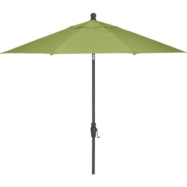 9' Round Sunbrella ® Kiwi Umbrella with Bronze Frame