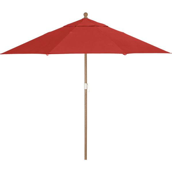 9' Round Sunbrella ® Caliente Umbrella with Eucalyptus Frame