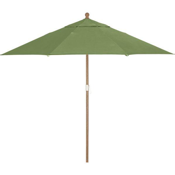 9' Round Sunbrella ® Cilantro Umbrella with Eucalyptus Frame