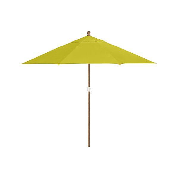 9' Round Sunbrella ® Sulfur Umbrella with Eucalyptus Frame