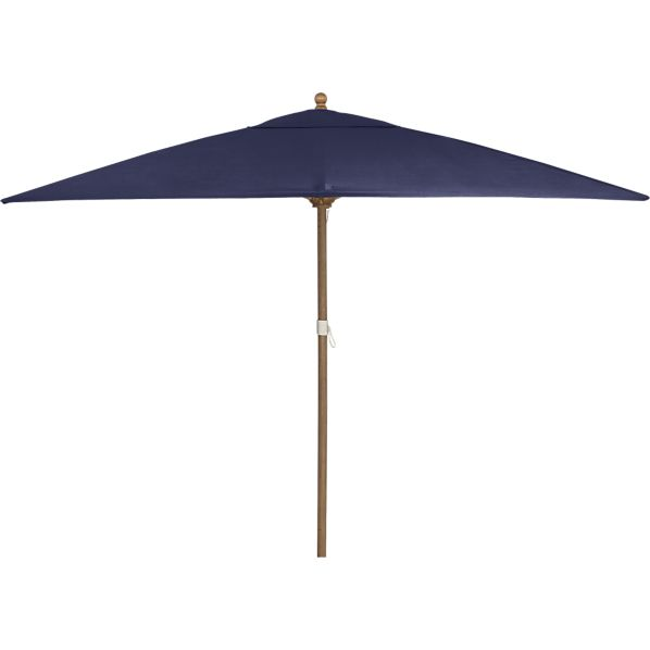 Rectangular Sunbrella ® Indigo Umbrella with Eucalyptus Frame