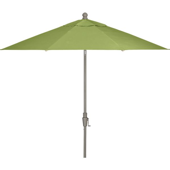 9' Round Sunbrella ® Kiwi Umbrella with Silver Frame