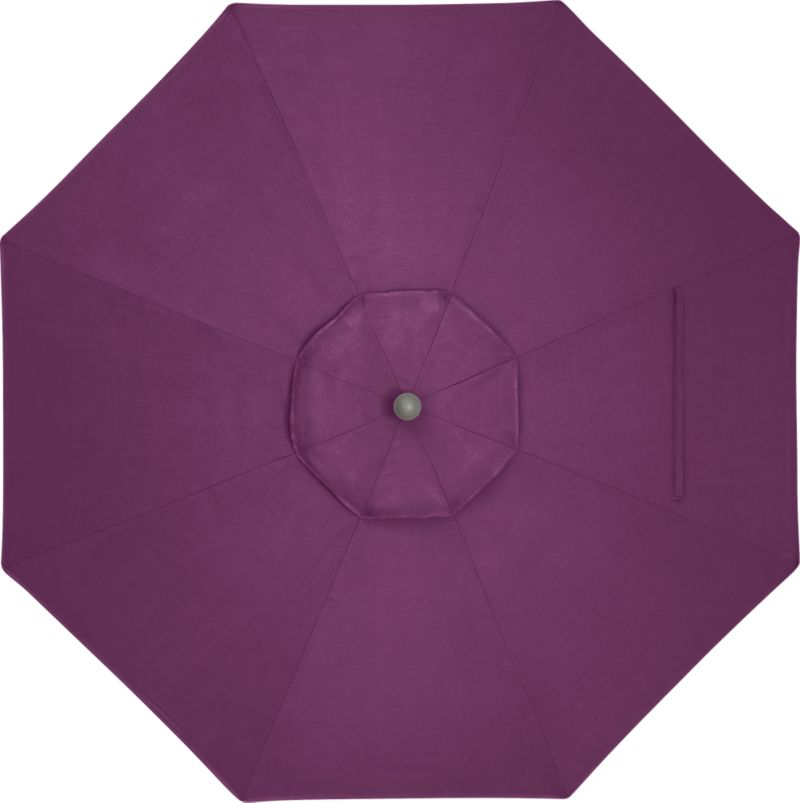 A canopy in vibrant phlox Sunbrella® acrylic blocks out 98% of the sun's rays. Fits all of our 9' round frames.<br /><br /><NEWTAG/><ul><li>Cover: fade- and mildew-resistant Sunbrella acrylic umbrella (fits all 9' round frames; spot clean)</li><li>Made in USA</li></ul><br />