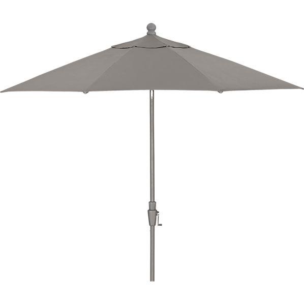 9' Round Sunbrella ® Graphite Umbrella with Silver Frame