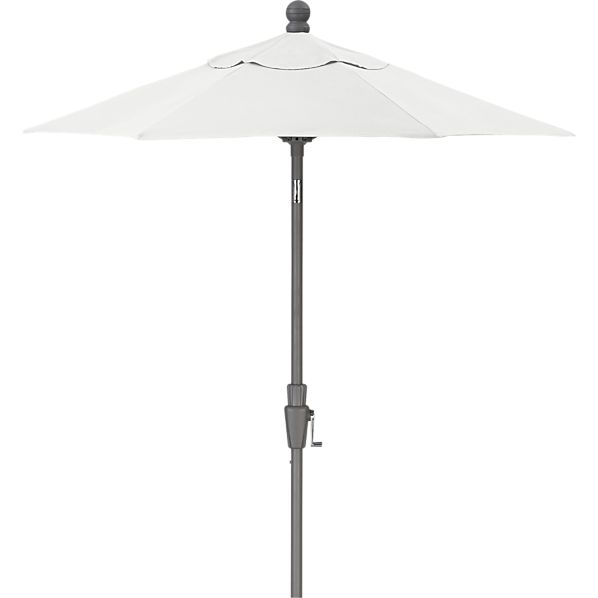 6' Round Sunbrella ® Eggshell Umbrella with Silver Frame