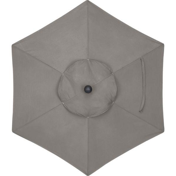 6' Round Sunbrella ® Graphite Umbrella Cover