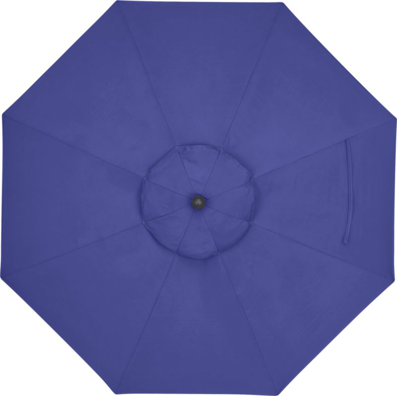 A marine blue canopy in fade- and mildew-resistant Sunbrella® acrylic blocks out 98% of the sun's rays. Fits all of our 9' round frames. (Frames and stands sold separately).<br /><br /><NEWTAG/><ul><li>Cover: fade- and mildew-resistant Sunbrella acrylic umbrella (fits all 9' round frames; spot clean)</li><li>Made in USA</li></ul><br />