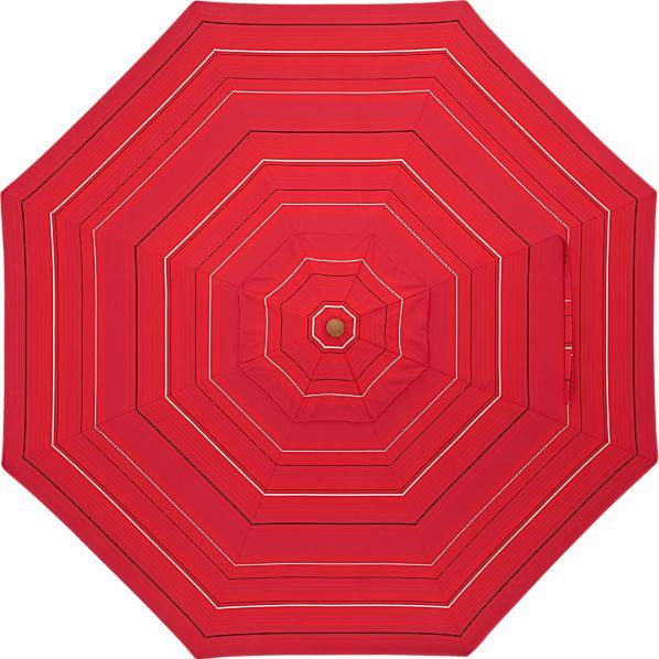 9' Round Sunbrella ® Red Tonal Stripe Umbrella Cover