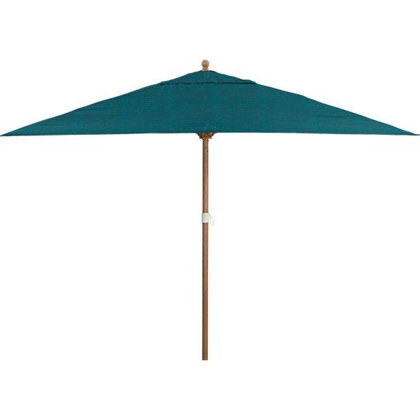 Rectangular Juniper Umbrella with Eucalyptus Frame