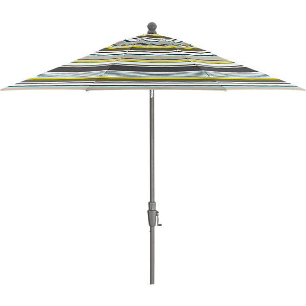 9' Round Arroyo Umbrella with Silver Frame
