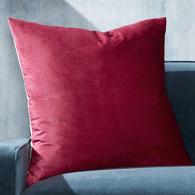 """Marlo Berry Velvet Pillow 23"""" - Image 1 of 7"""