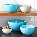 Marlo Aqua Melamine Bowls, Set of 5