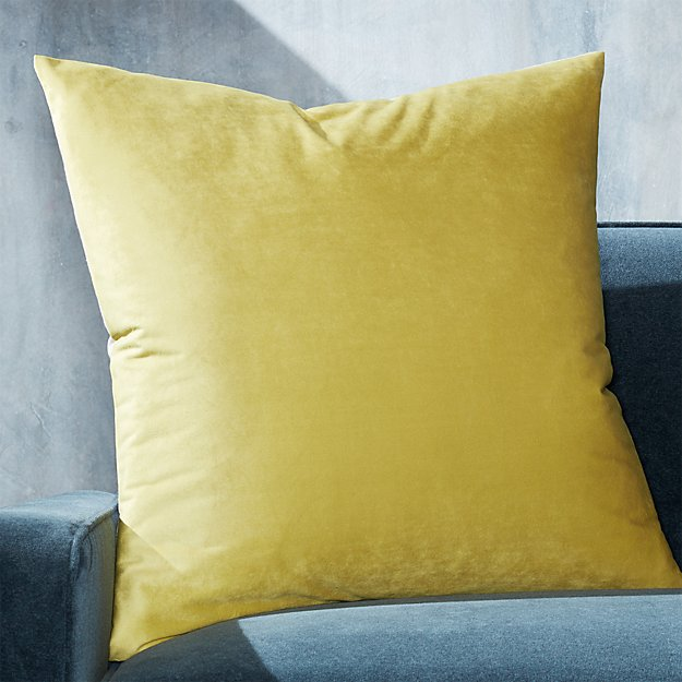 """Marlo Chartreuse Velvet Pillow 23"""" - Image 1 of 6"""