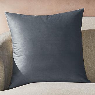 Marlo Grey Velvet Pillow 23