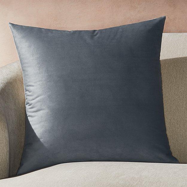 """Marlo Grey Velvet Pillow 23"""" - Image 1 of 5"""