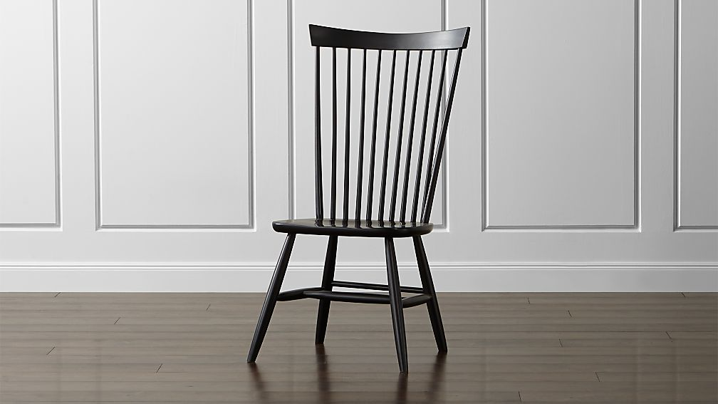 black wood dining chairs Marlow II Black Maple Dining Chair + Reviews | Crate and Barrel black wood dining chairs