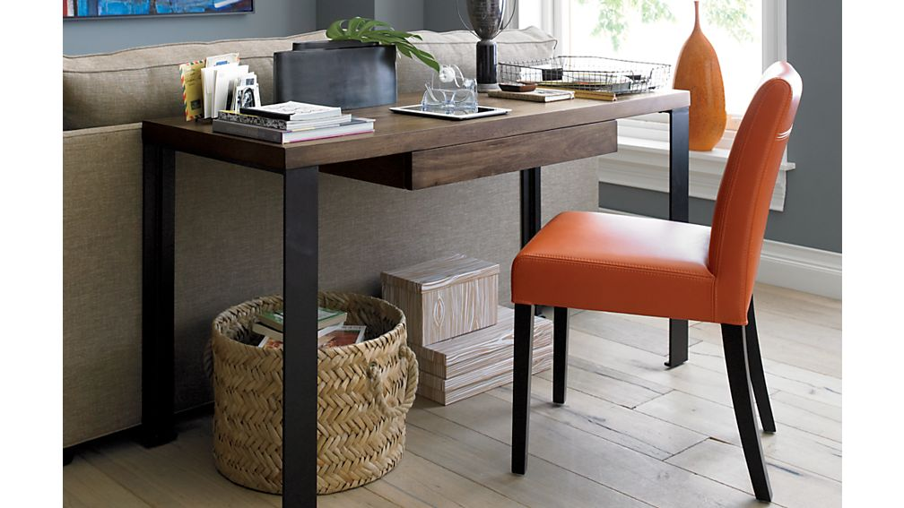 ... Lowe Persimmon Leather Dining Chair ...