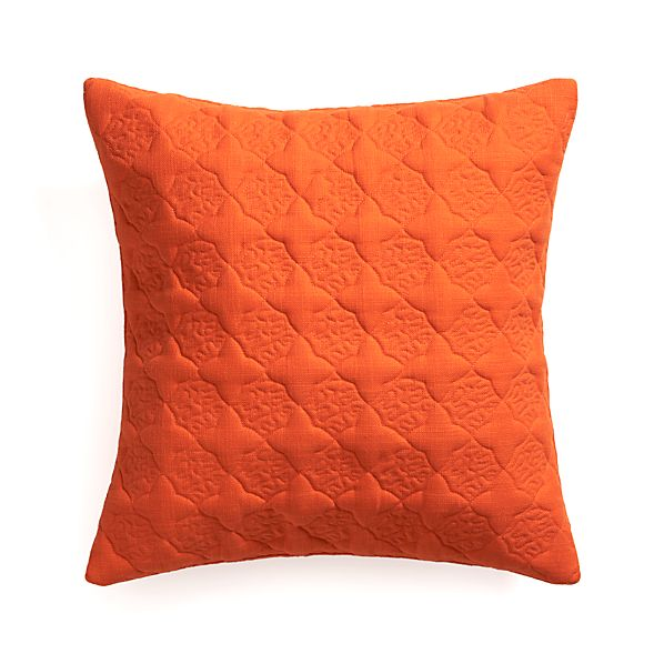 "Marvis Orange 20"" Pillow  with Feather Insert"