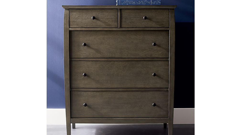 Mason Shadow 5-Drawer Grey Chest