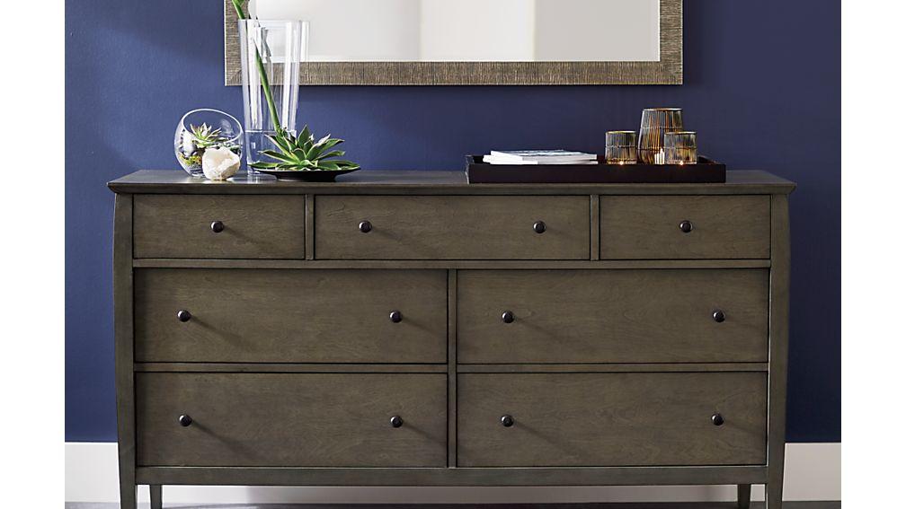 Mason Shadow 7-Drawer Grey Dresser