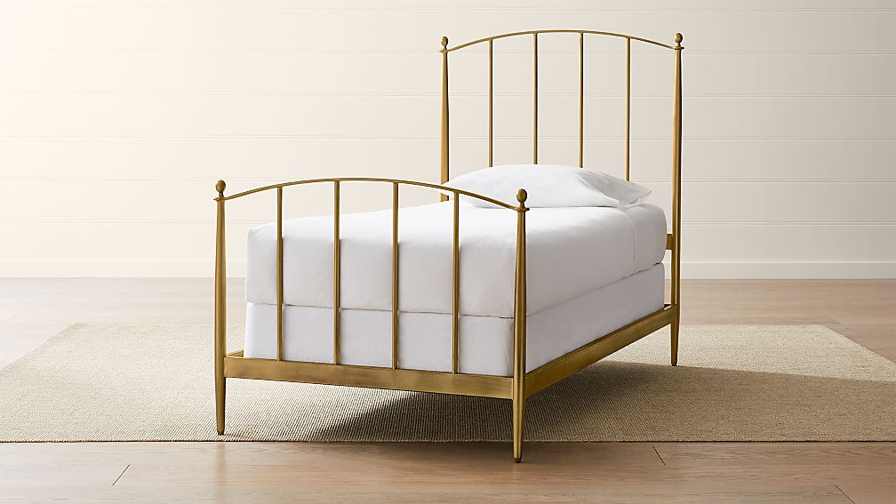 Mason Brass Twin Bed Reviews Crate And Barrel