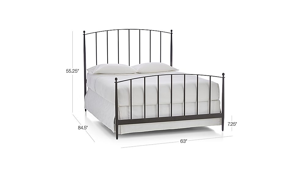 Image with dimension for Mason Shadow Queen Bed