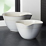 Mason Rustic Spouted Mixing Bowls, Set of 2