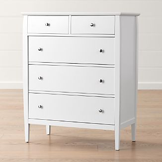 Mason White 5-Drawer Chest
