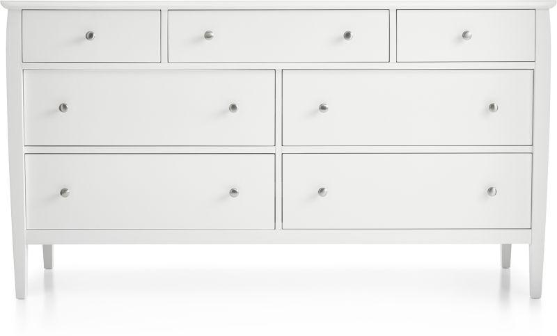 Mason White 7-Drawer Dresser