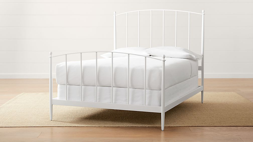 Mason White Full Bed Reviews Crate And Barrel