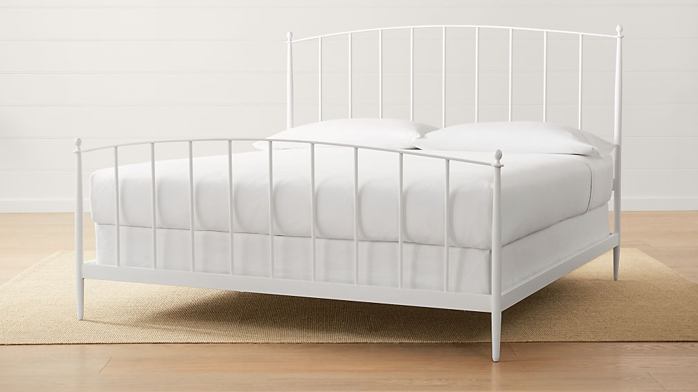 Mason White King Bed Reviews Crate And Barrel