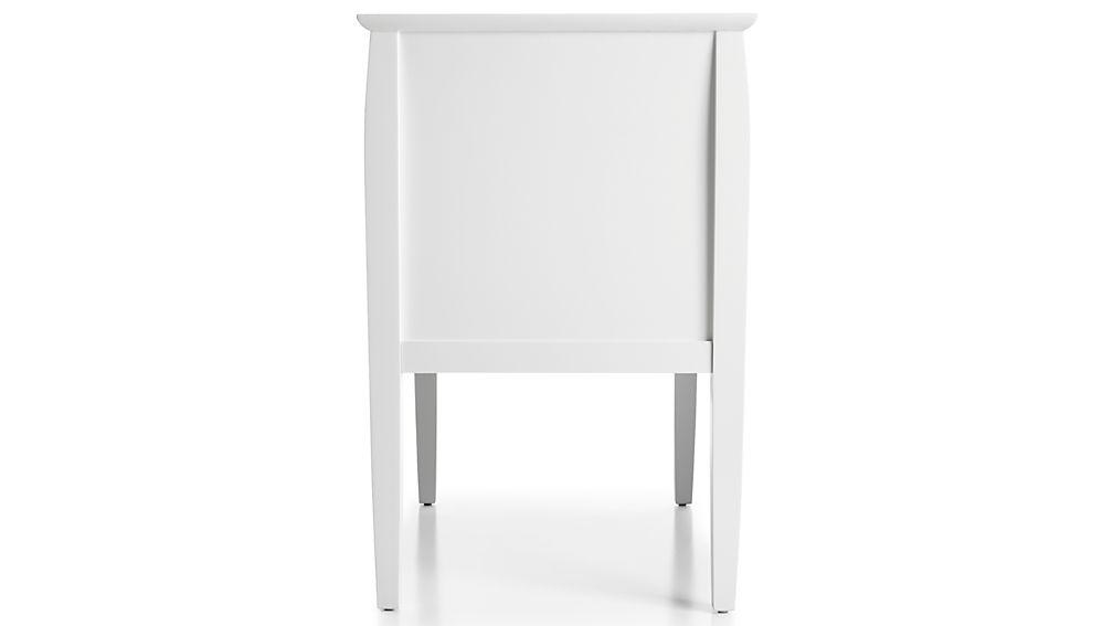 Mason 2-Drawer White Nightstand