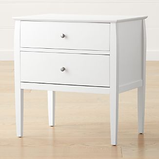 White bedside tables crate and barrel mason 2 drawer white nightstand watchthetrailerfo