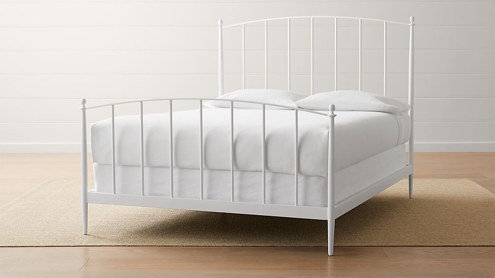 beautiful white queen size beds from us stores | Mason White Queen Bed + Reviews | Crate and Barrel