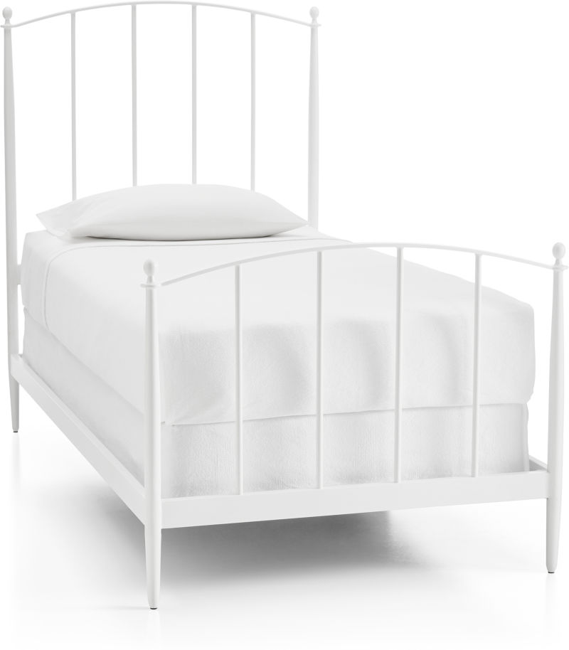 Mason White Twin Bed