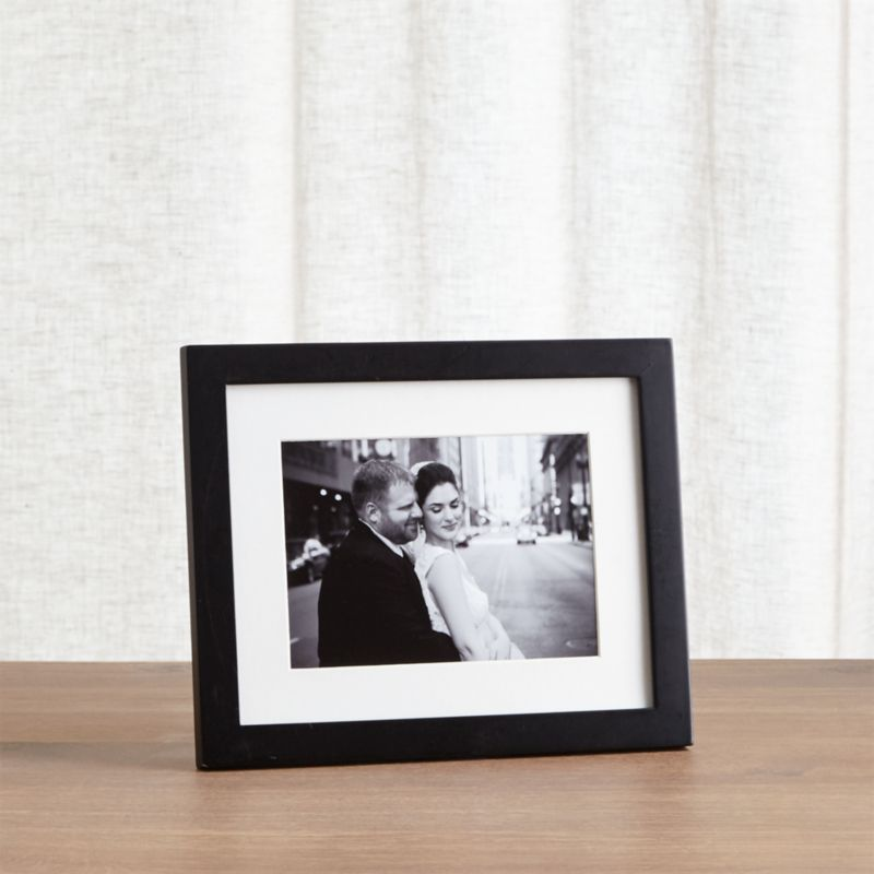 Matte Black 5x7 Picture Frame + Reviews | Crate and Barrel