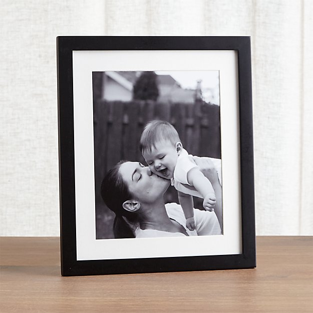 Matte black 8x10 picture frame reviews crate and barrel