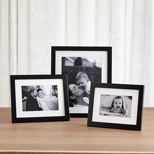 Matte Black Picture Frames | Crate and Barrel