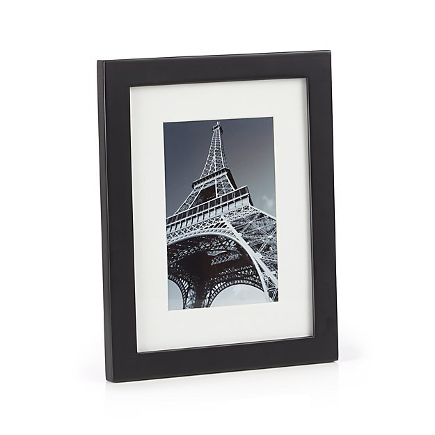 Matte Black 4x6 Picture Frame + Reviews | Crate and Barrel