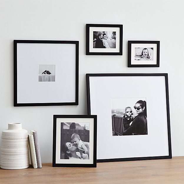 5 piece matte black picture frame set reviews crate and barrel