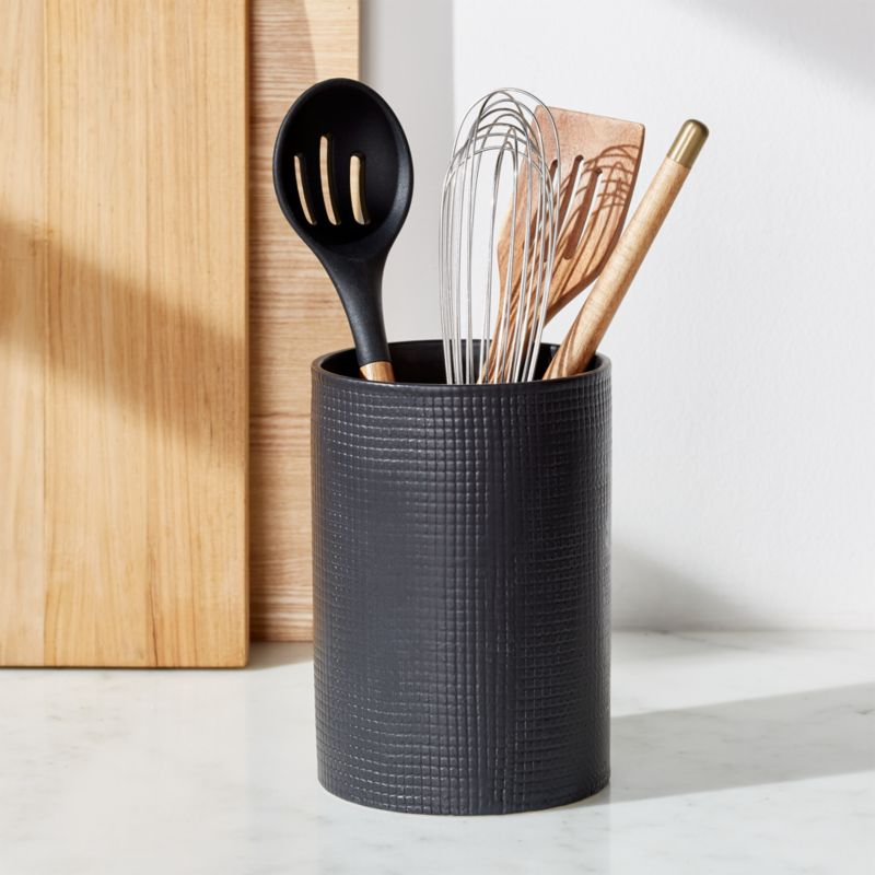 Matte Black Utensil Holder Reviews Crate And Barrel