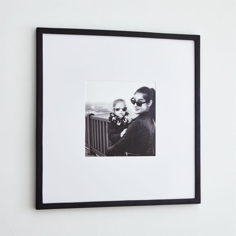 Matte Black 11x11 Wall Frame + Reviews | Crate and Barrel