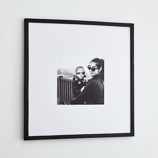Matte Black 11x11 Wall Frame Reviews Crate And Barrel