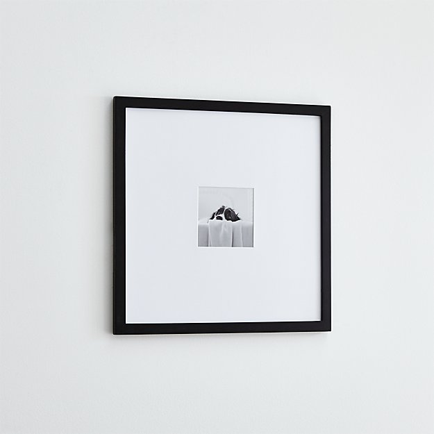 Matte Black 5x5 Wall Frame + Reviews | Crate and Barrel