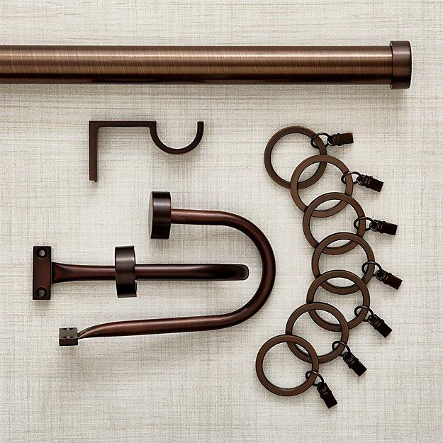 Matte Bronze Curtain Hardware - Matte Bronze Curtain Hardware Crate And Barrel