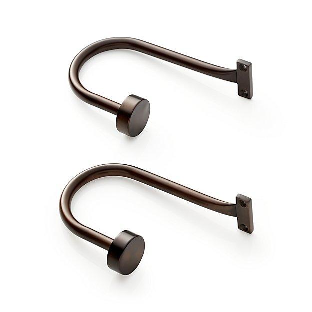 Set of 2 Matte Bronze Curtain Tie Backs