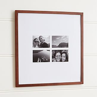 Matte Brown 4-4x6 Wall Frame