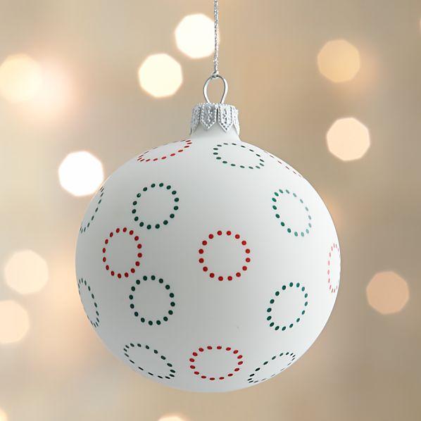 Matte Flower Design Ball Ornament