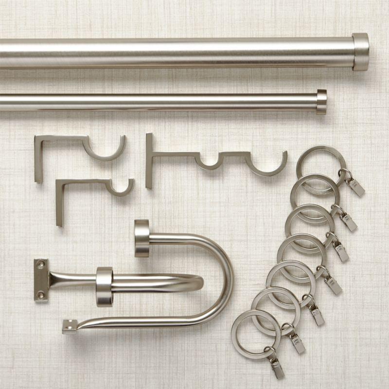 - Matte Nickel Curtain Hardware Crate And Barrel